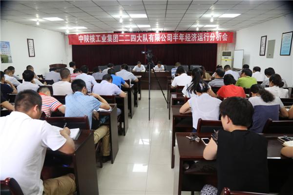 公司召开上半年经济运行分析会议